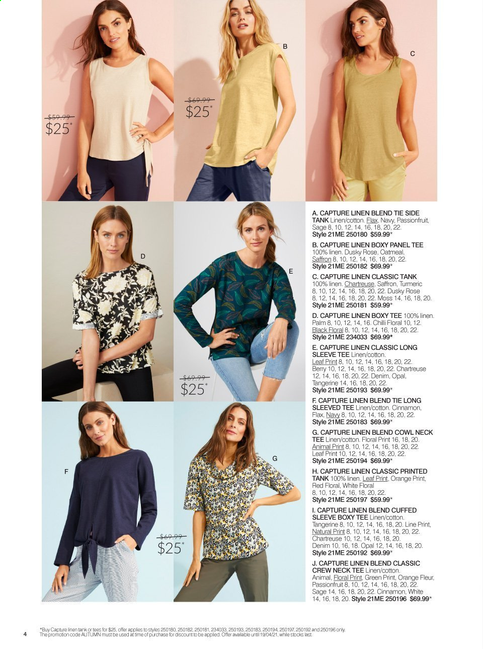 Ezibuy mailer - 09.03.2021 - 19.04.2021 - Sales products - jeans, long-sleeve tee, tee, tie. Page 4.