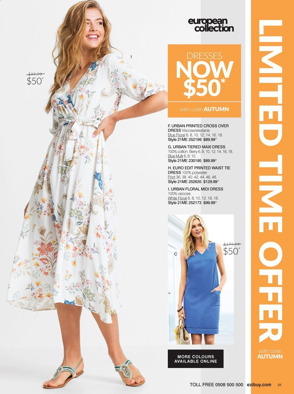 Ezibuy mailer - 09.03.2021 - 19.04.2021 - Sales products - dress, tie. Page 31.