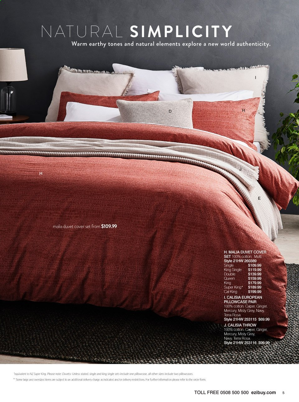 Ezibuy mailer - 29.03.2021 - 25.04.2021 - Sales products - duvet, pillowcases, quilt cover set. Page 5.