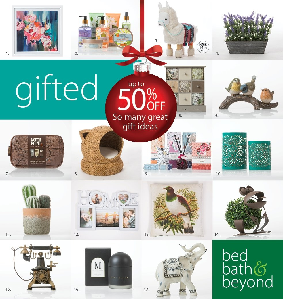 Bed Bath and Beyond mailer - 02.12.2018 - 24.12.2018 - Sales products - bath, bed. Page 1.