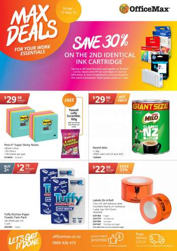 OfficeMax mailer - 24.04.2021 - 21.05.2021.
