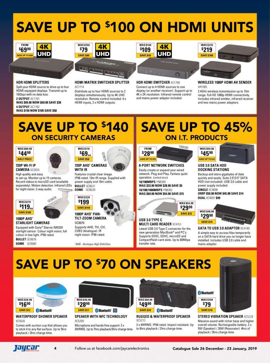 Current Jaycar Electronics Mailer 26122018 23012019 My 2 Way Network Switch Sales Products Battery