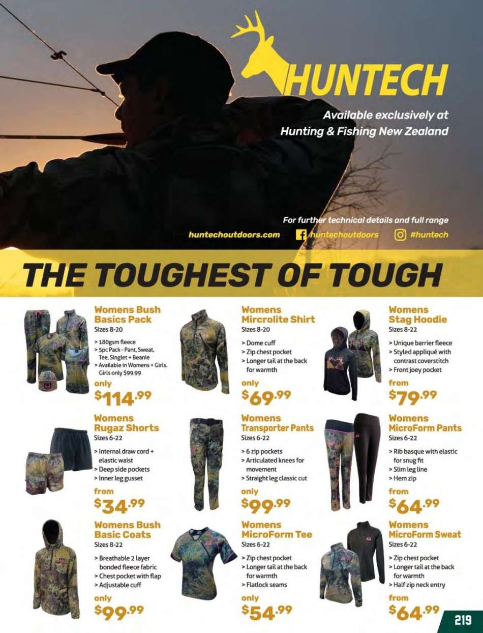 80c071b233a06 Hunting & Fishing mailer - Sales products - beanie, coat, shirt, shorts,