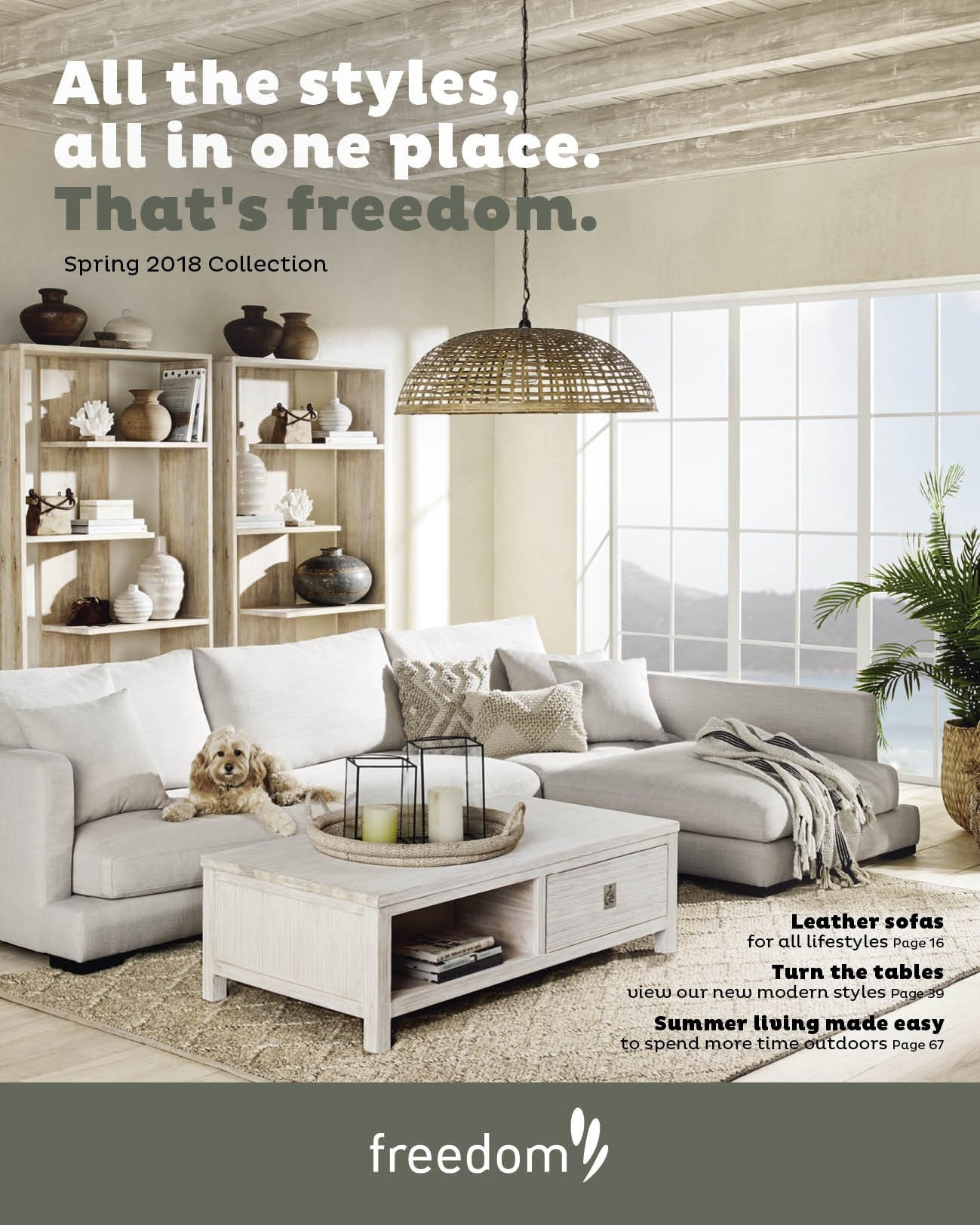 Freedom Furniture mailer . Page 1.