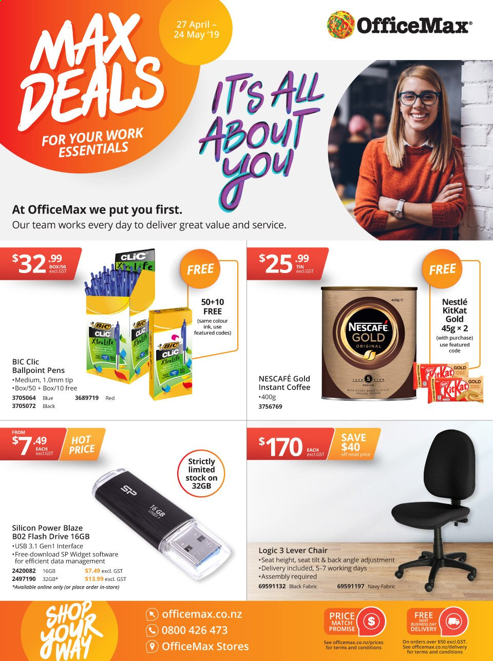 OfficeMax mailer  - 27.04.2019 - 24.05.2019. Page 1.