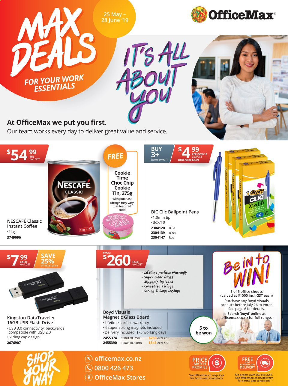 OfficeMax mailer  - 25.05.2019 - 28.06.2019. Page 1.