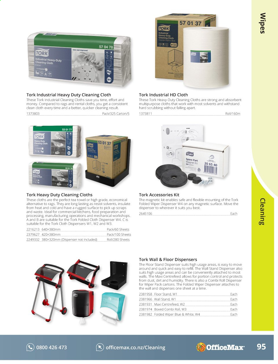 OfficeMax mailer - Sales products - dispenser, sheet, suits, tea, towel, refill. Page 97.