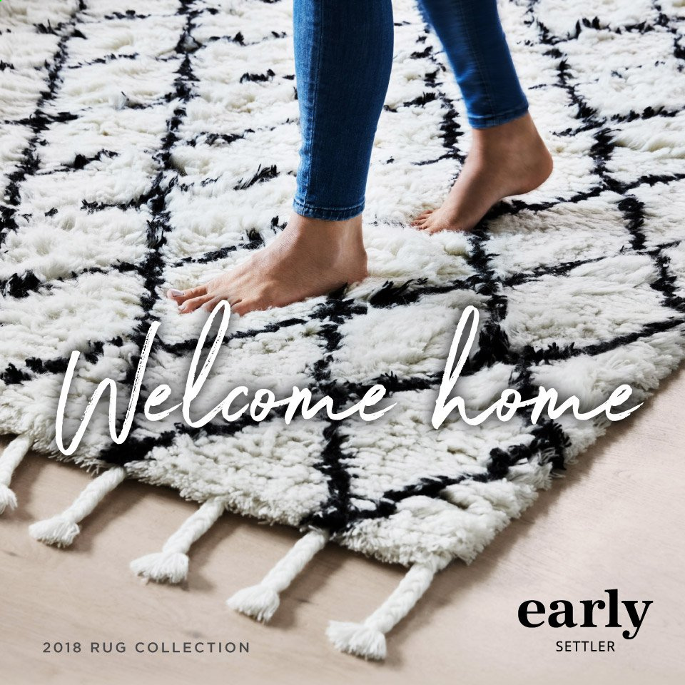 Early Settler mailer - 25.05.2019 - 30.09.2019 - Sales products - rug. Page 1.