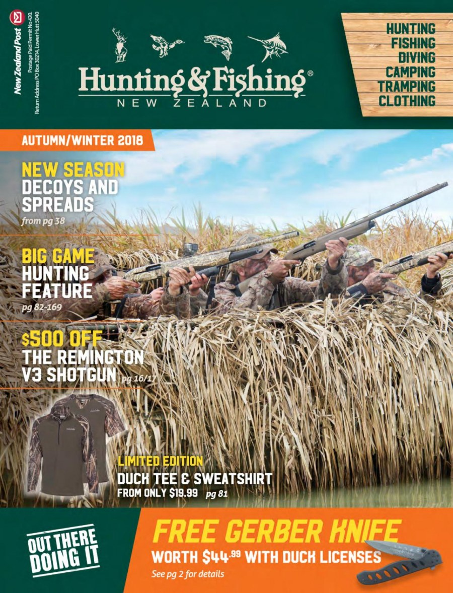 Hunting & Fishing mailer  - 01.03.2018 - 31.08.2018. Page 1.