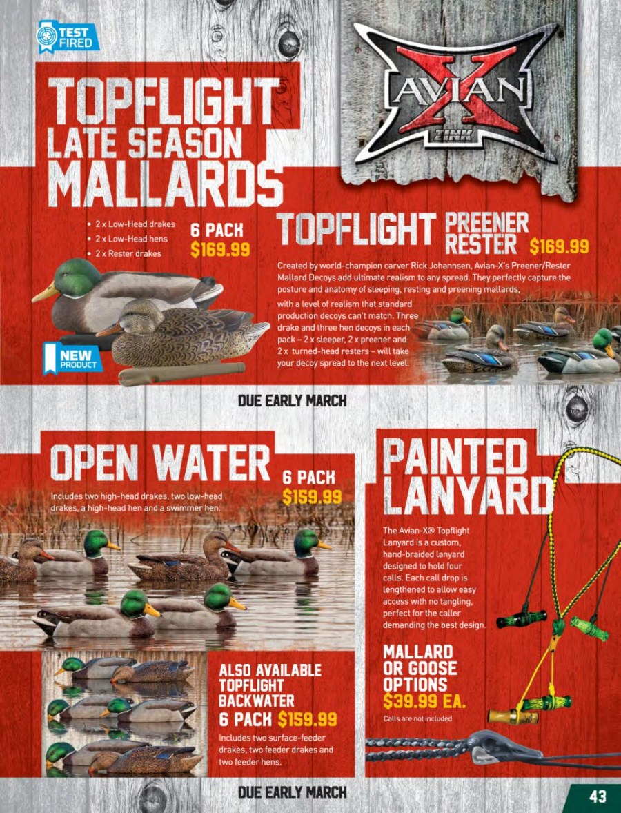 Hunting & Fishing mailer - 01.03.2018 - 31.08.2018 - Sales products - feeder. Page 43.
