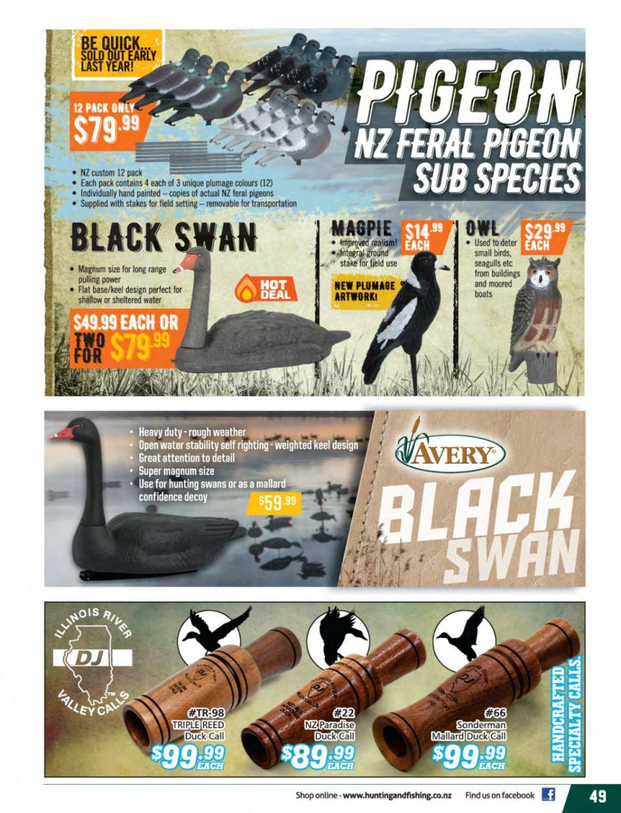 Hunting & Fishing mailer - 01.03.2018 - 31.08.2018 - Sales products - Pigeon. Page 49.