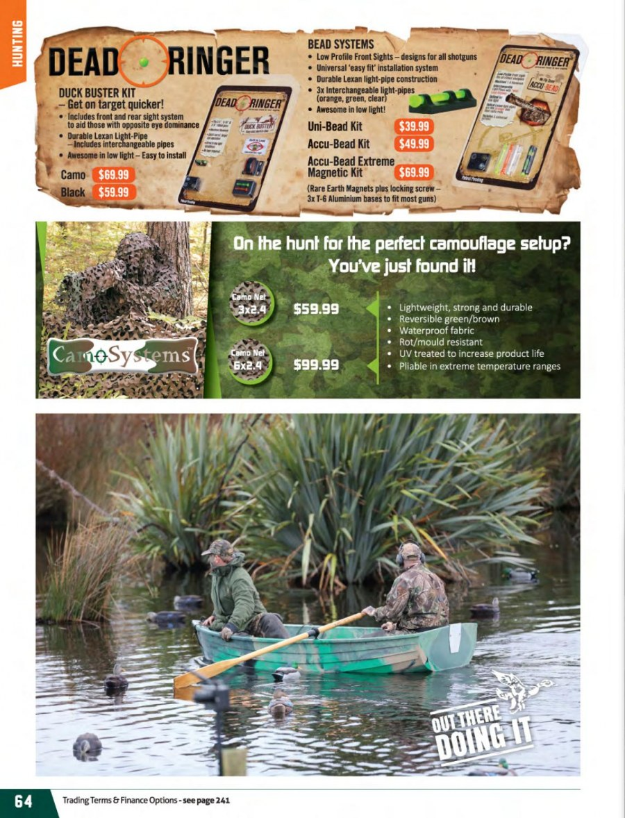 Hunting & Fishing mailer - 01.03.2018 - 31.08.2018 - Sales products - pipe. Page 64.
