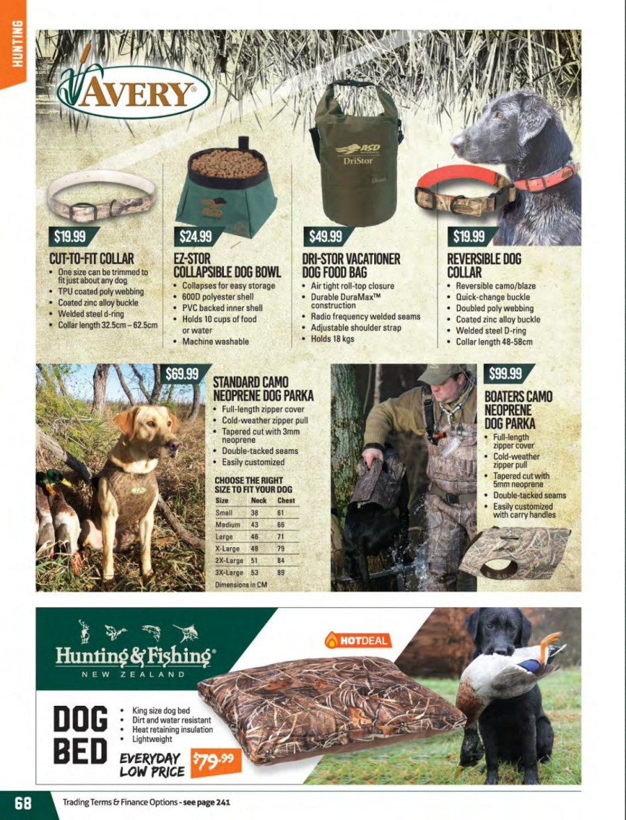 Hunting & Fishing mailer - 01.03.2018 - 31.08.2018 - Sales products - cup, bowl, neoprene, zinc, bed. Page 68.