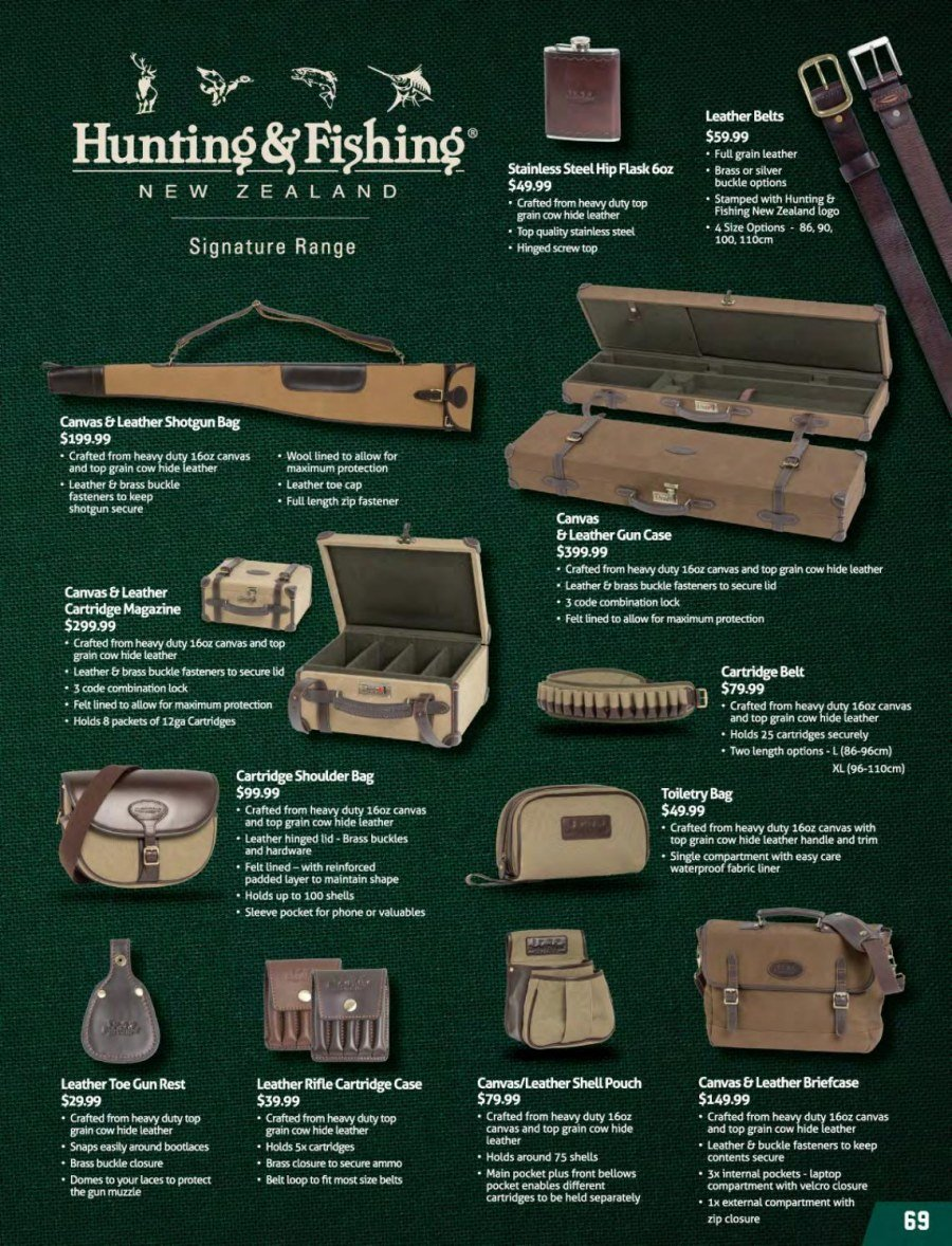 Hunting & Fishing mailer - 01.03.2018 - 31.08.2018 - Sales products - lid, cartridge, phone. Page 69.