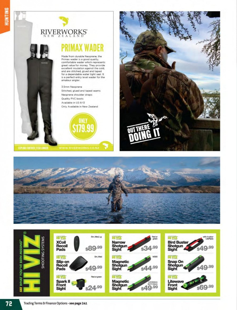 Hunting & Fishing mailer - 01.03.2018 - 31.08.2018 - Sales products - LG, neoprene. Page 72.