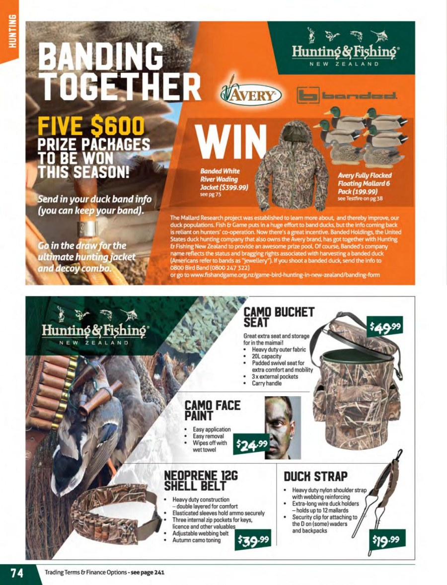Hunting & Fishing mailer - 01.03.2018 - 31.08.2018 - Sales products - neoprene, pool, paint. Page 74.