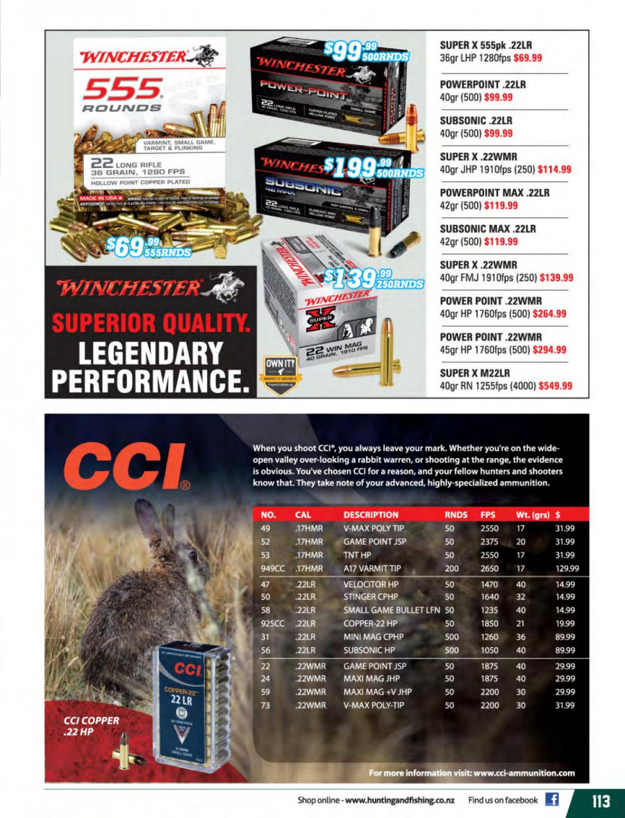 Hunting & Fishing mailer  - 01.03.2018 - 31.08.2018. Page 113.