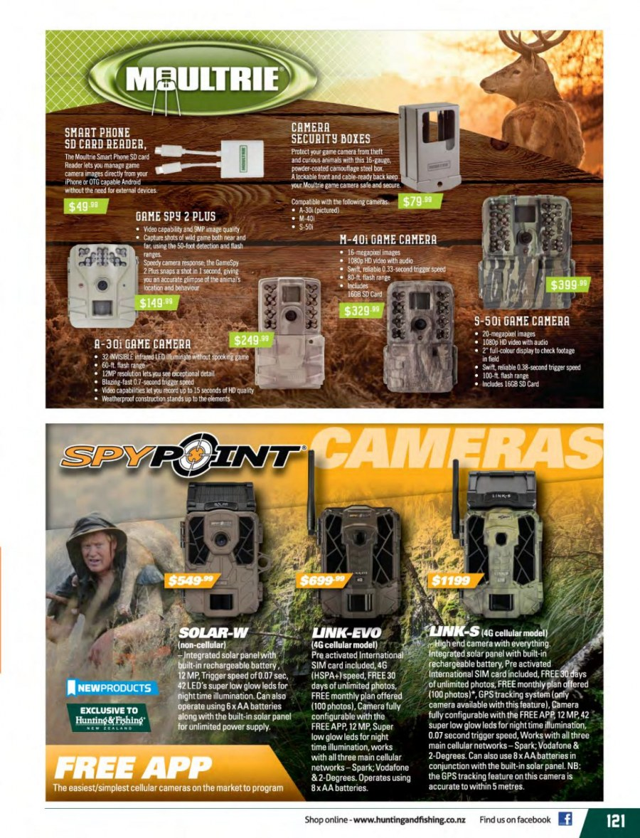 Hunting & Fishing mailer - 01.03.2018 - 31.08.2018 - Sales products - aa batteries, smartphone, solar panel. Page 121.