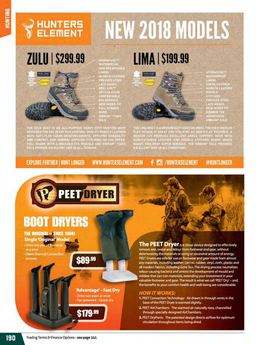 Hunting & Fishing mailer - 01.03.2018 - 31.08.2018 - Sales products - fan, rubber, Optimum. Page 190.