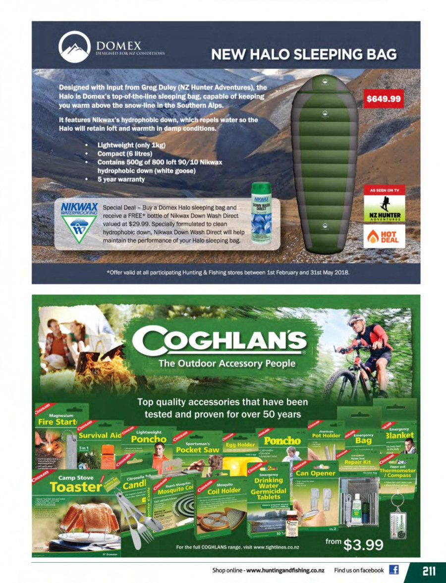 Hunting & Fishing mailer - 01.03.2018 - 31.08.2018 - Sales products - pot, toaster, saw, Hunter, TV. Page 211.