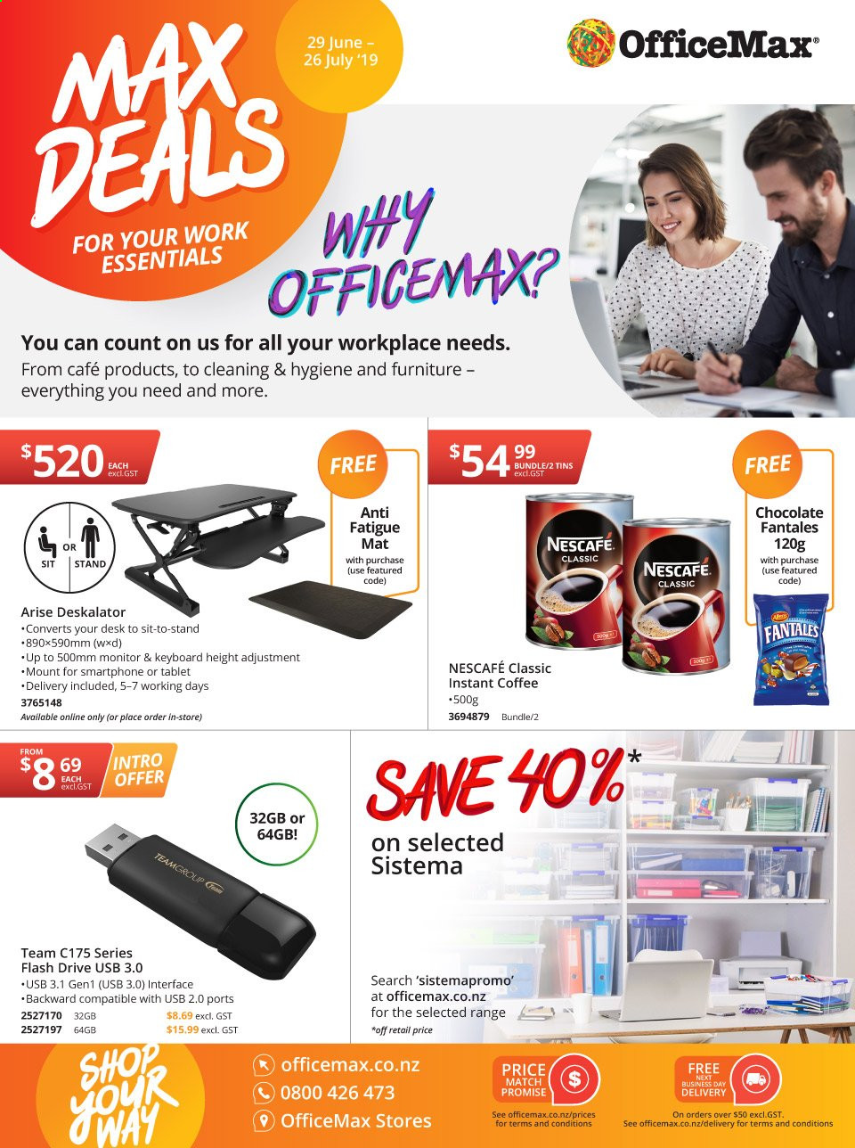 OfficeMax mailer  - 29.06.2019 - 26.07.2019. Page 1.