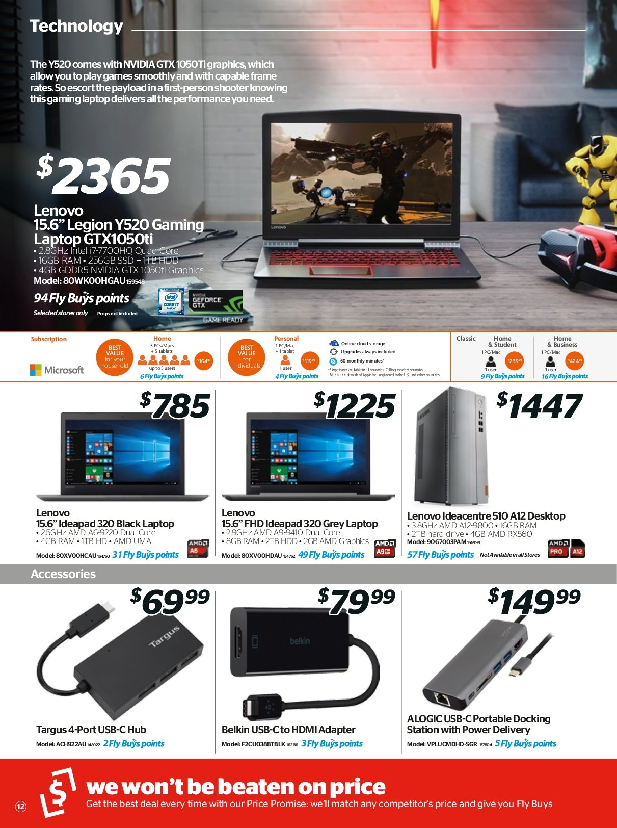 Noel Leeming mailer - 18.04.2018 - 24.04.2018 - Sales products - amd, frame, geforce, laptop, lenovo, microsoft, usb, hard drive, hdd, hdmi, intel, nvidia, ssd, tablets. Page 12.