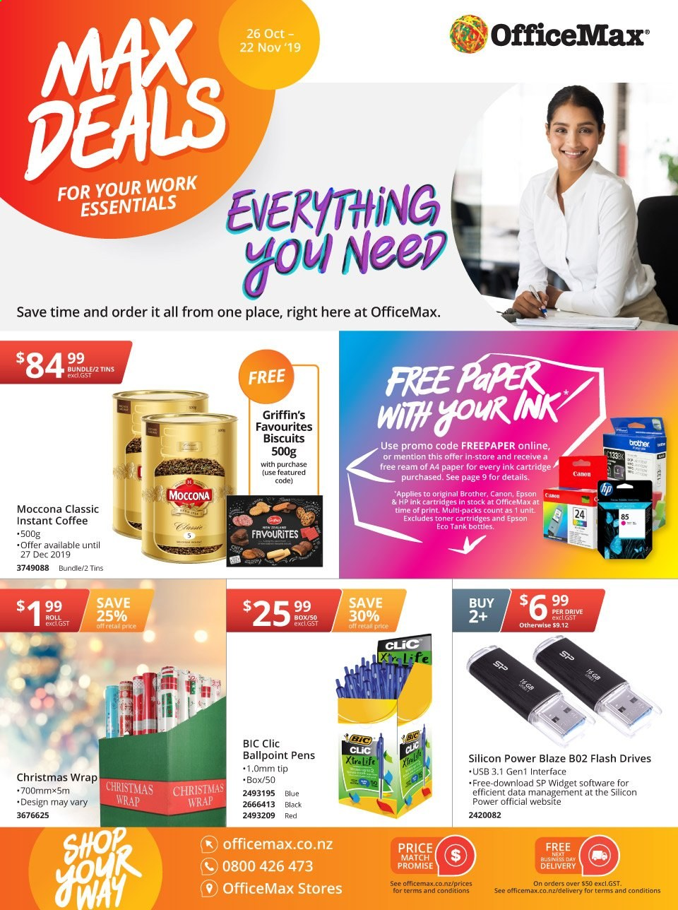 OfficeMax mailer  - 26.10.2019 - 22.11.2019. Page 1.