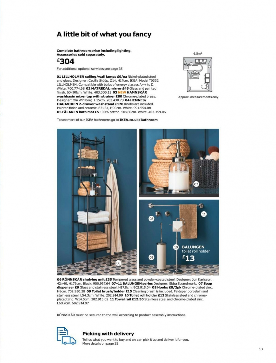 IKEA offer  - 1.9.2017 - 15.7.2018. Page 13.