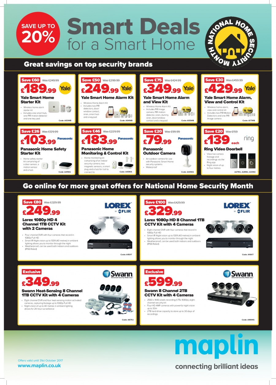 Maplin offer  - 3.10.2017 - 31.10.2017. Page 1.