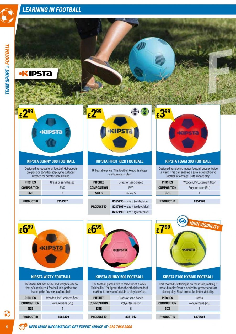 Decathlon offer  - 1.9.2017 - 30.6.2018 - Sales products - bounce, foam, safe, game. Page 4.