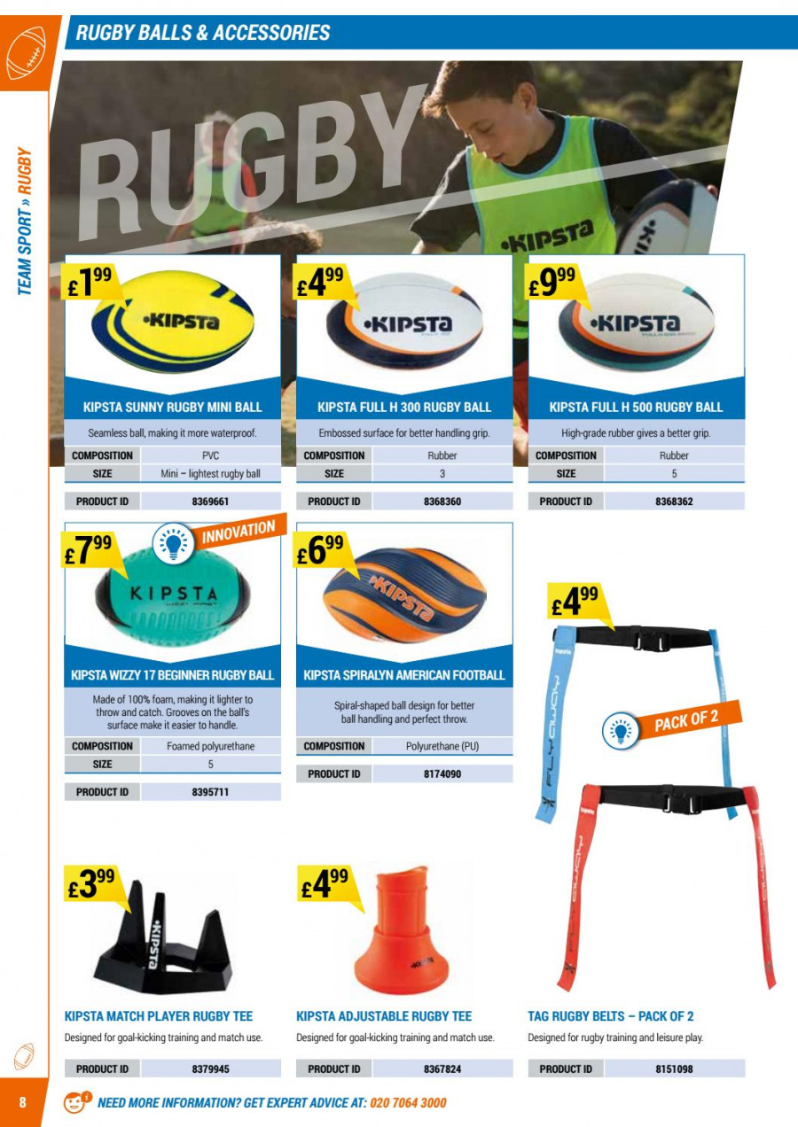 Decathlon offer  - 1.9.2017 - 30.6.2018 - Sales products - accessories, foam, goal, leisure, tee, throw, handles, player, waterproof. Page 8.