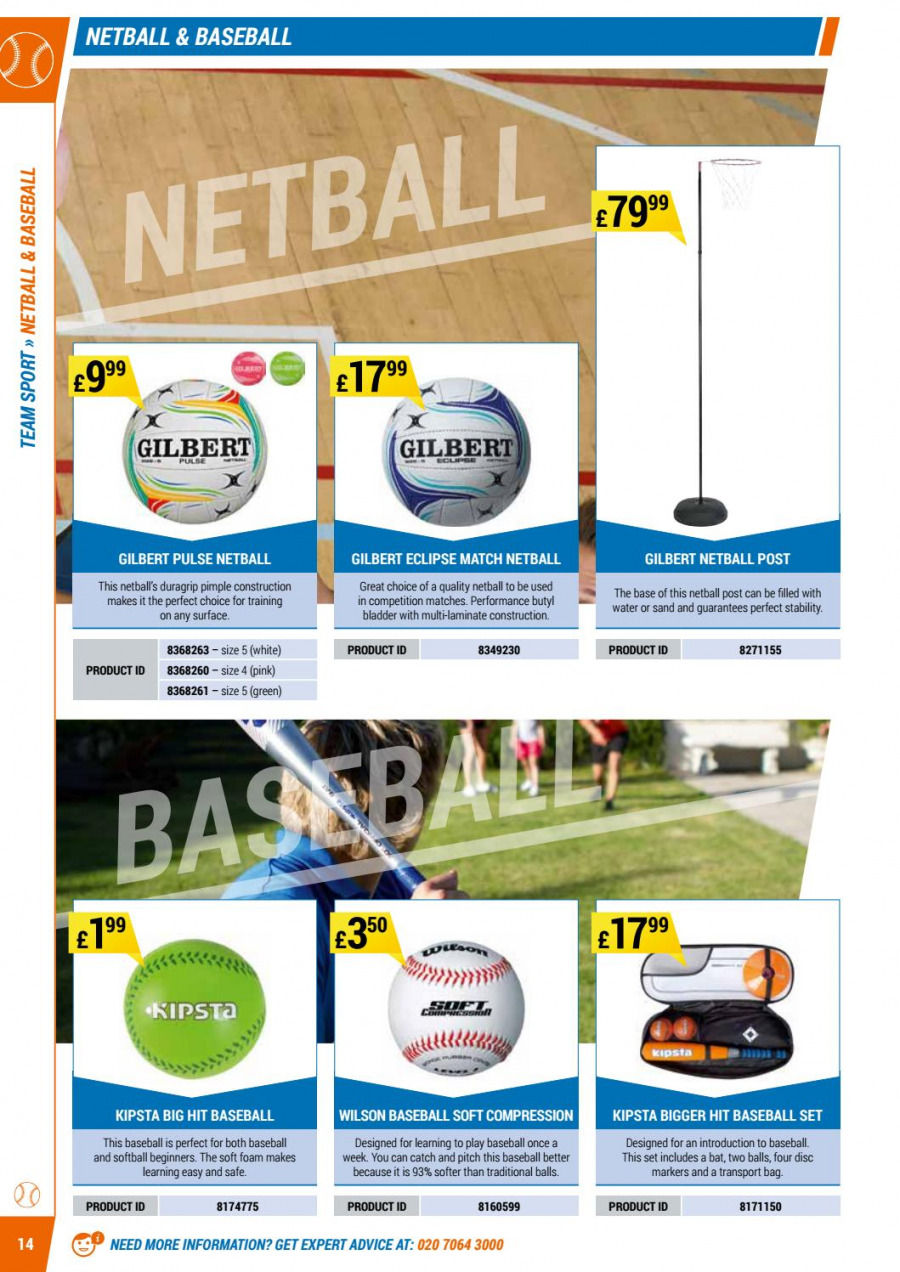 Decathlon offer  - 1.9.2017 - 30.6.2018 - Sales products - bag, foam, gilbert, safe, surface, wilson. Page 14.