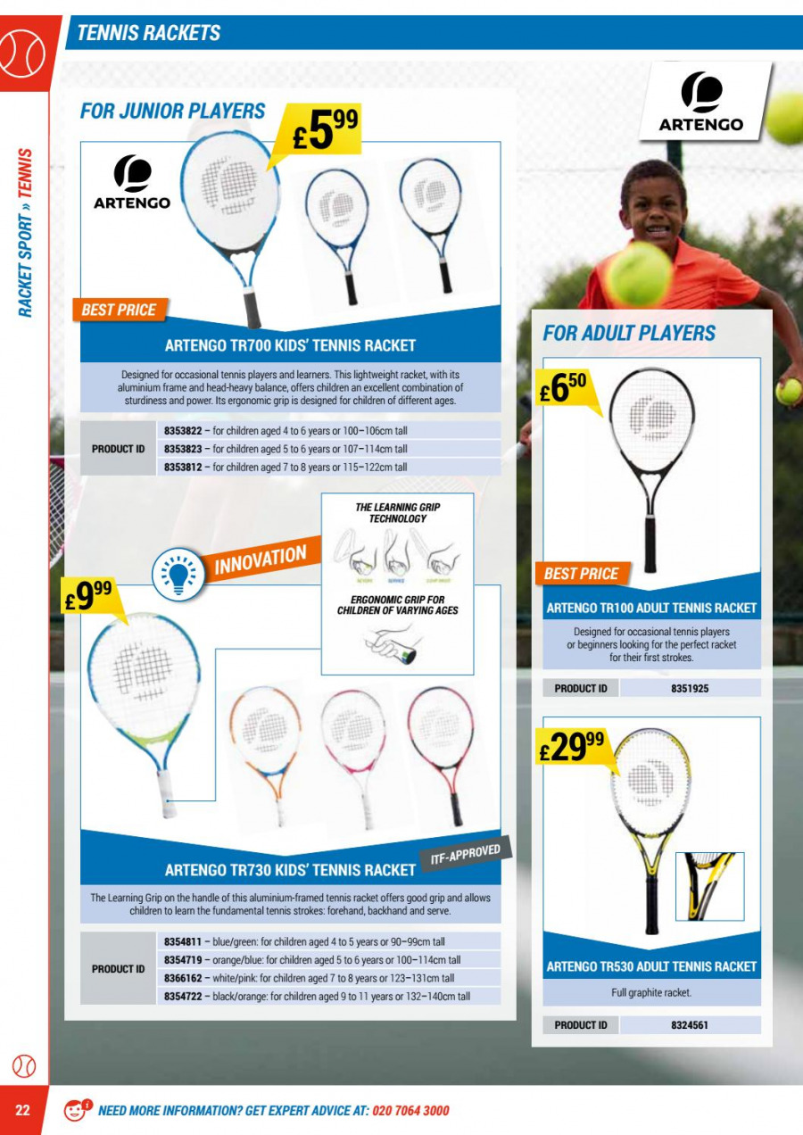 Decathlon offer  - 1.9.2017 - 30.6.2018. Page 22.