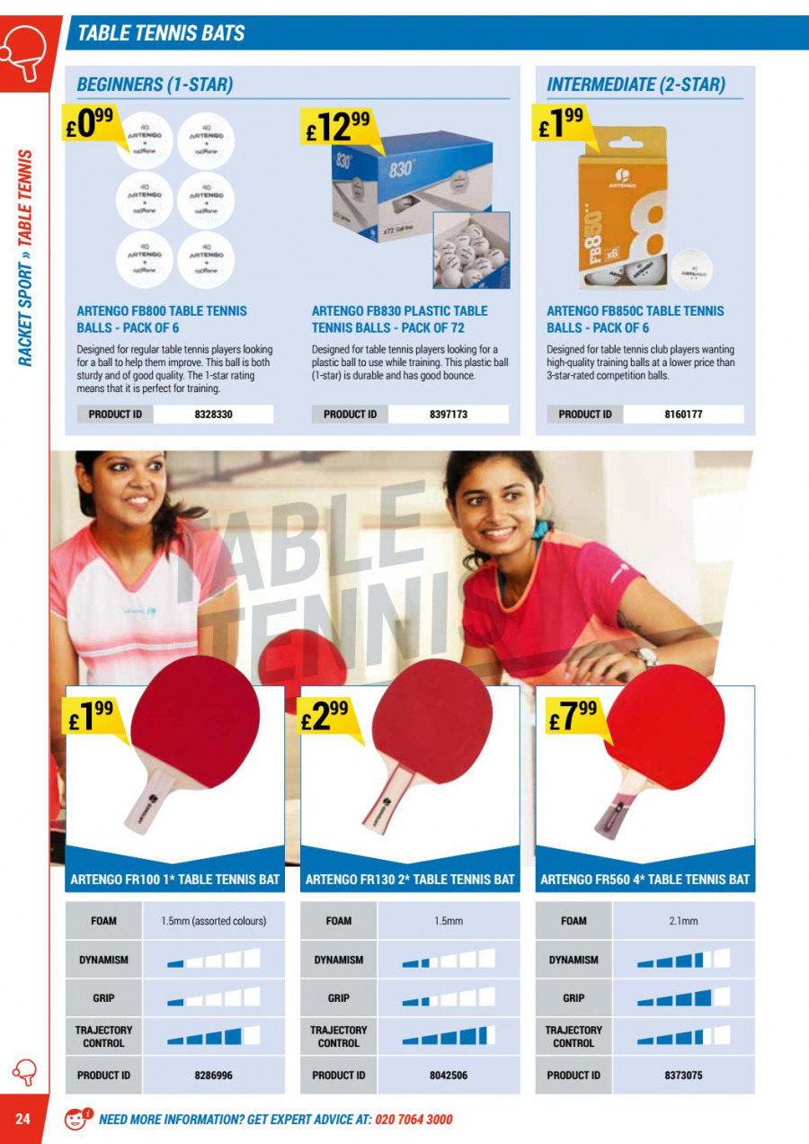 Decathlon offer  - 1.9.2017 - 30.6.2018 - Sales products - bounce, foam, table, tennis balls. Page 24.