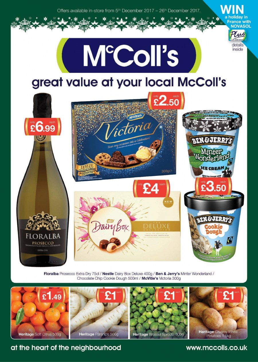 McColl's offer  - 5.12.2017 - 26.12.2017. Page 1.