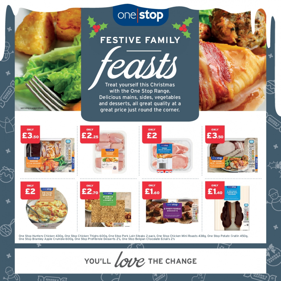 One Stop offer  - 6.12.2017 - 24.12.2017. Page 1.