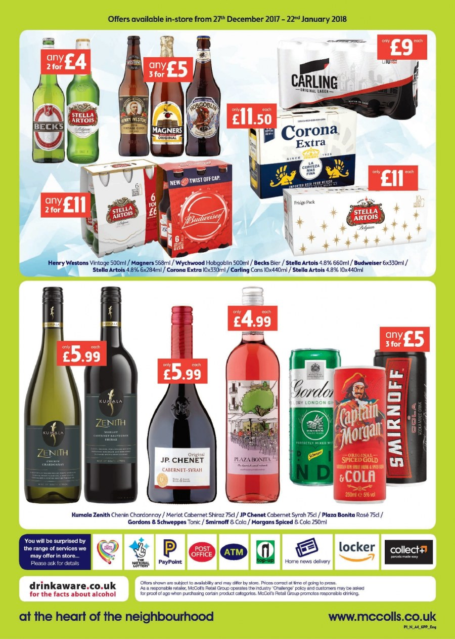 McColl's offer  - 27.12.2017 - 22.1.2018. Page 6.