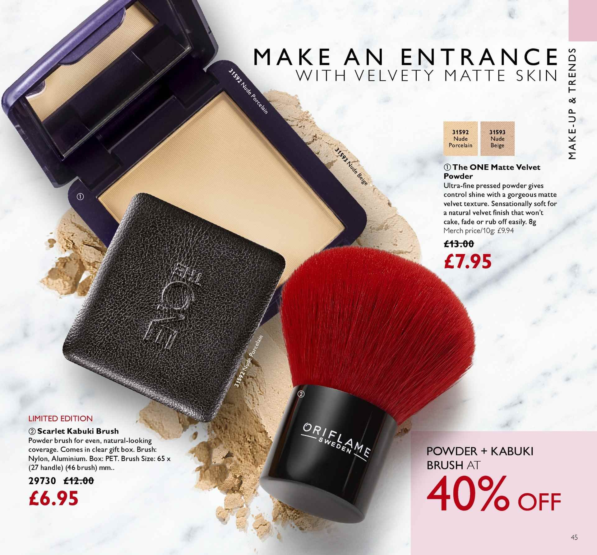 Oriflame offer  - 13.4.2018 - 3.5.2018. Page 45.