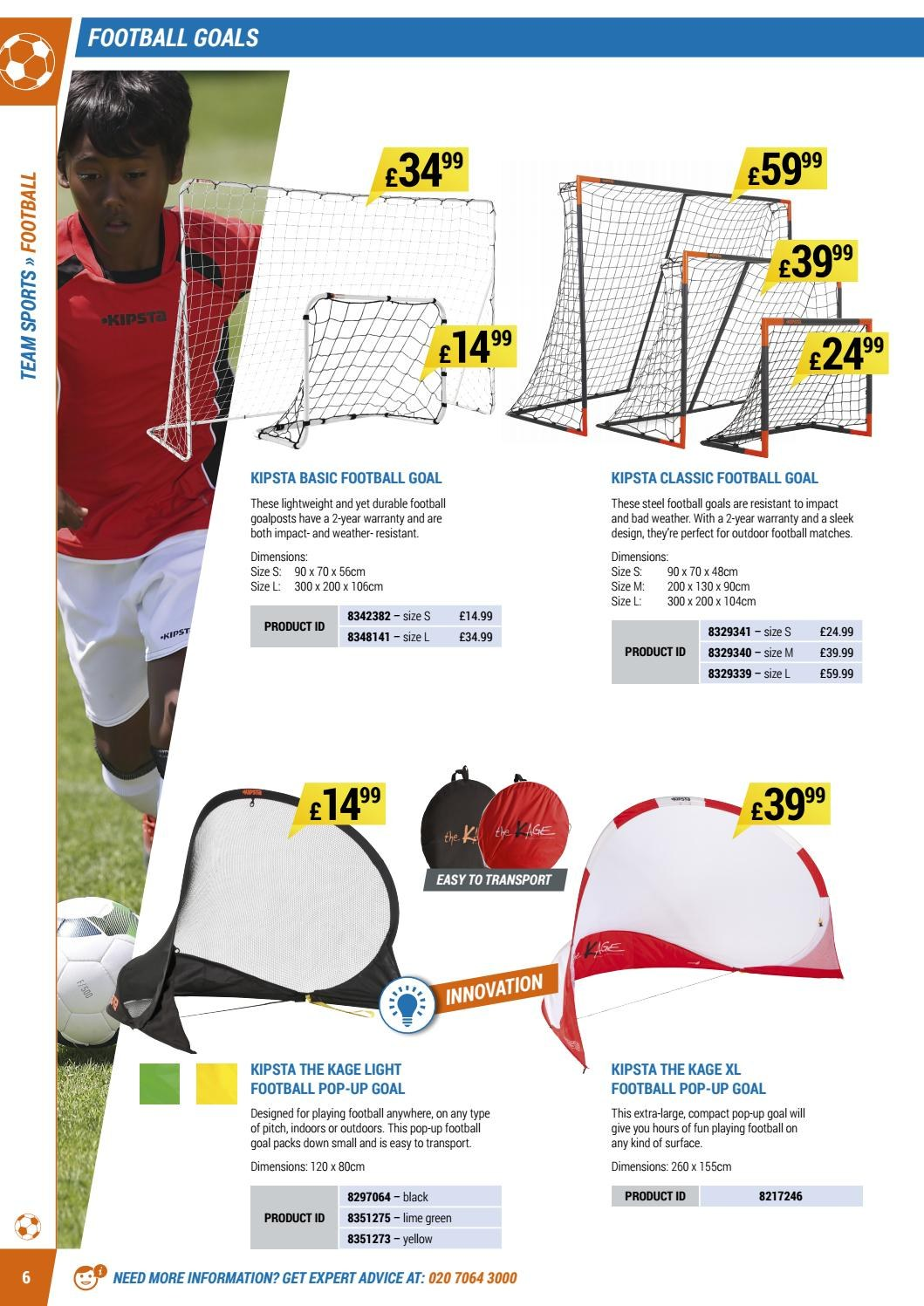 Decathlon offer  - 16.4.2018 - 30.9.2018 - Sales products - goal. Page 6.