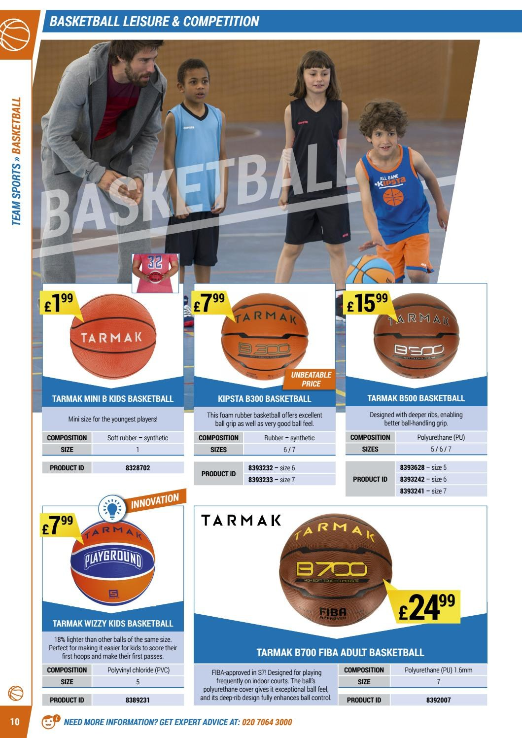 Decathlon offer  - 16.4.2018 - 30.9.2018 - Sales products - cover, foam, leisure, game, basketball, ribs. Page 10.
