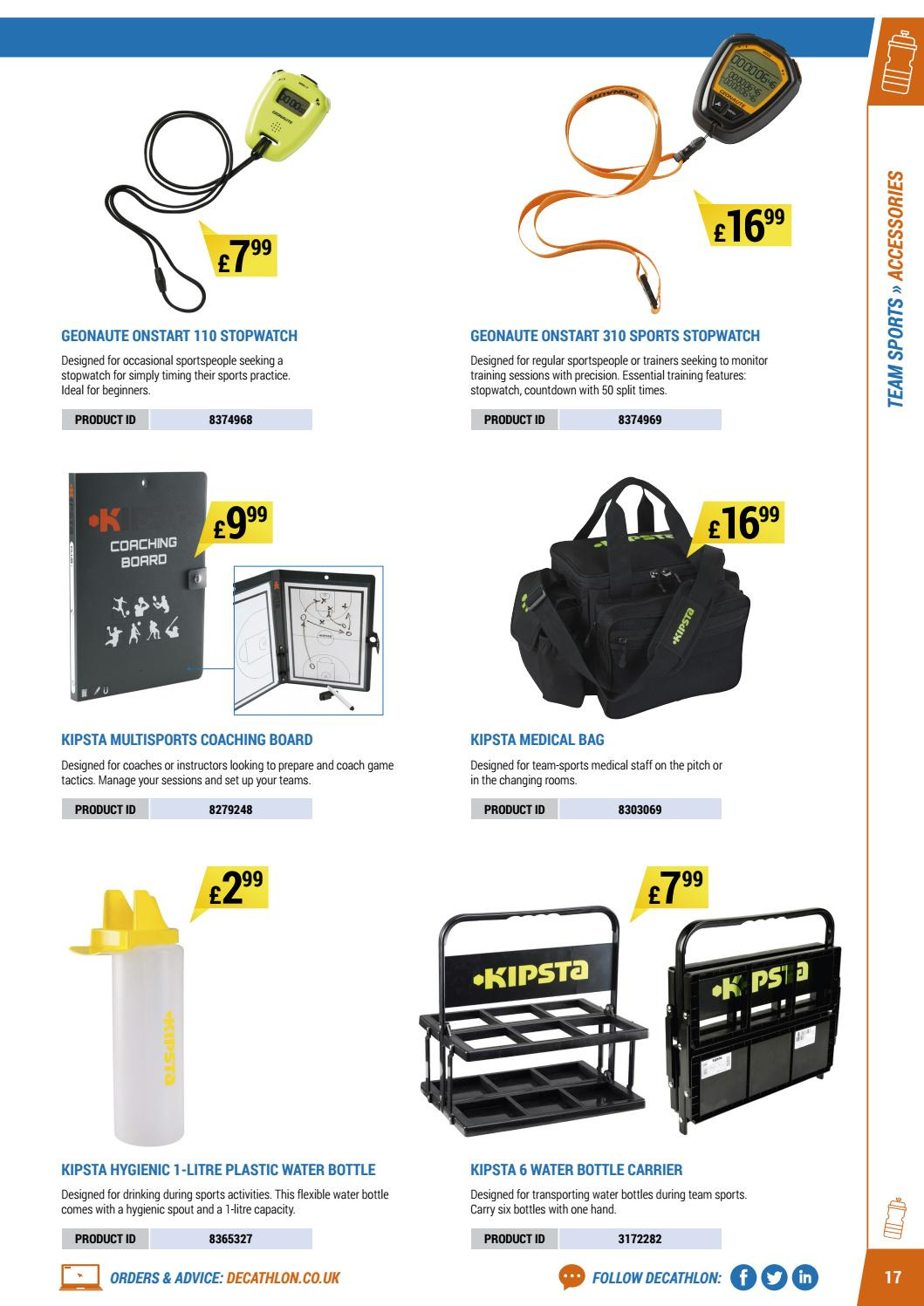 Decathlon offer  - 16.4.2018 - 30.9.2018 - Sales products - bag, bottle, coach, monitor, ps+, game, water bottle, board. Page 17.