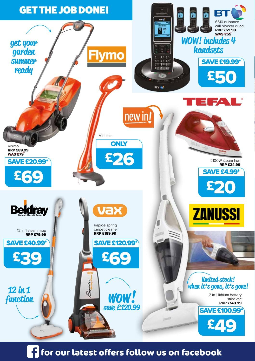 The Original Factory Shop offer  - 30.4.2018 - 13.5.2018 - Sales products - battery, stick, tefal, iron, carpet, carpet cleaner. Page 4.