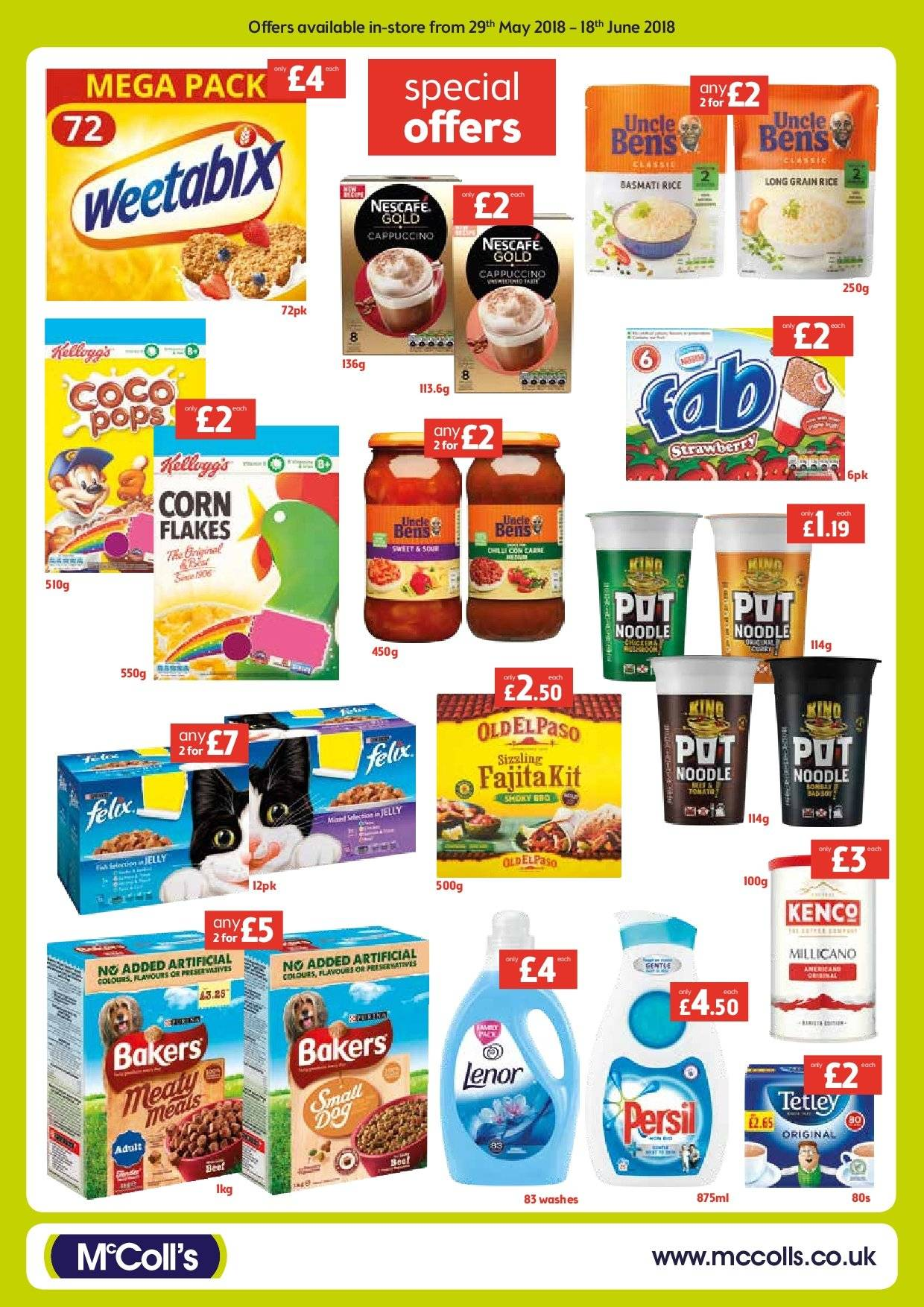 McColl's offer  - 29.5.2018 - 18.6.2018. Page 2.