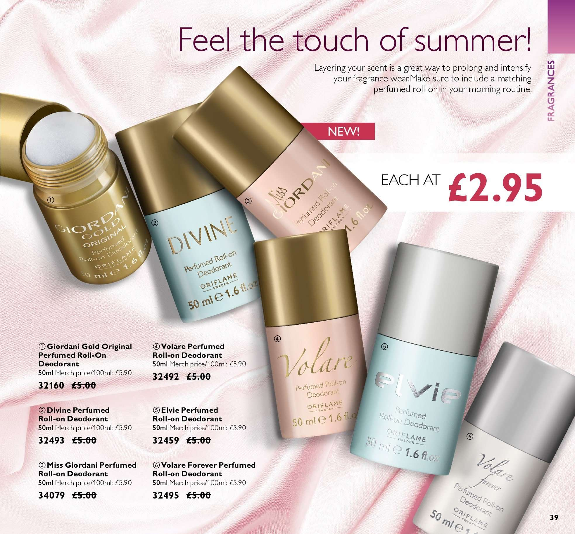 Oriflame offer  - 15.6.2018 - 5.7.2018. Page 39.