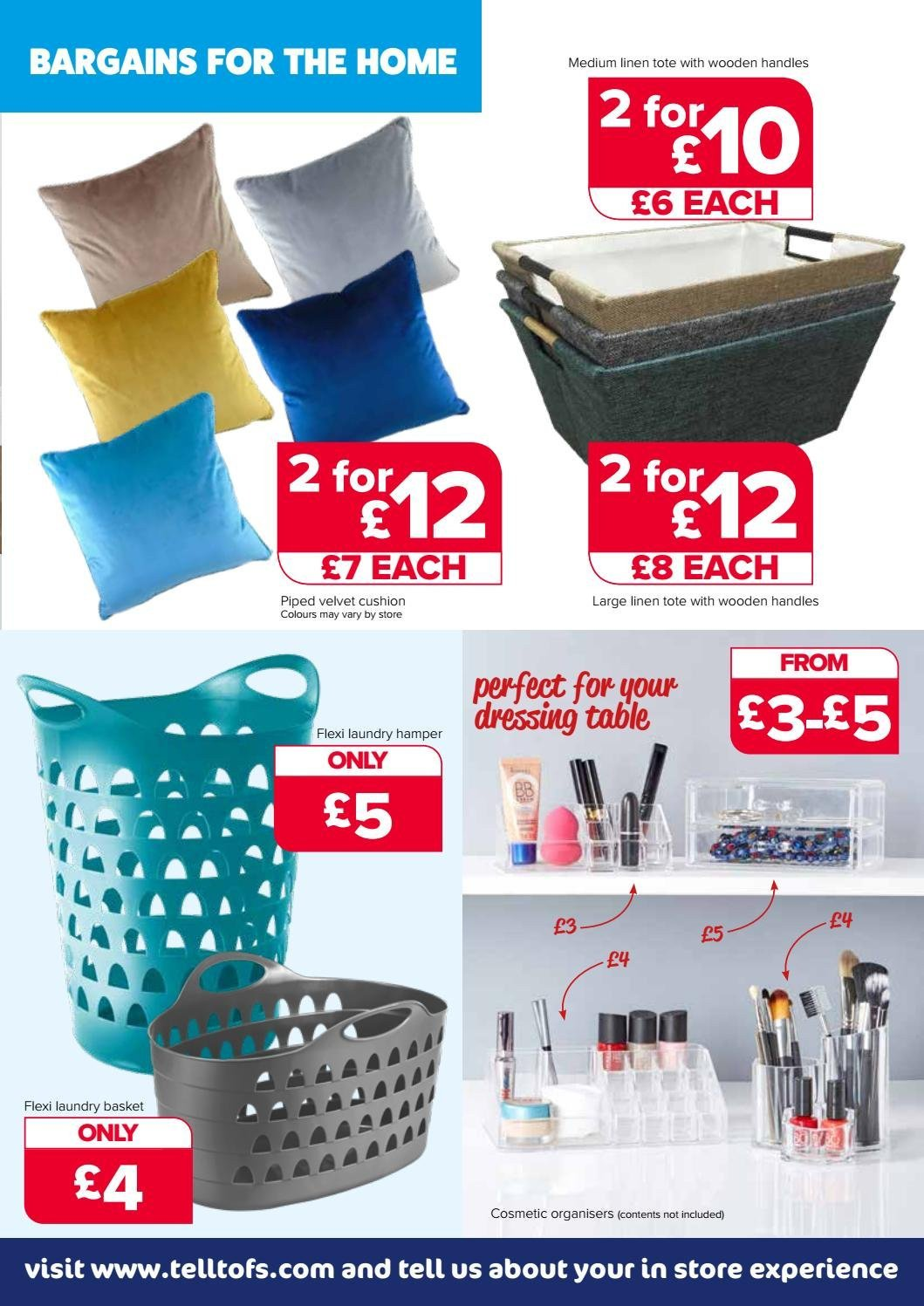 The Original Factory Shop offer  - 26.7.2018 - 8.8.2018 - Sales products - basket, cushion, table, handles, cosmetic, dressing, tote. Page 3.