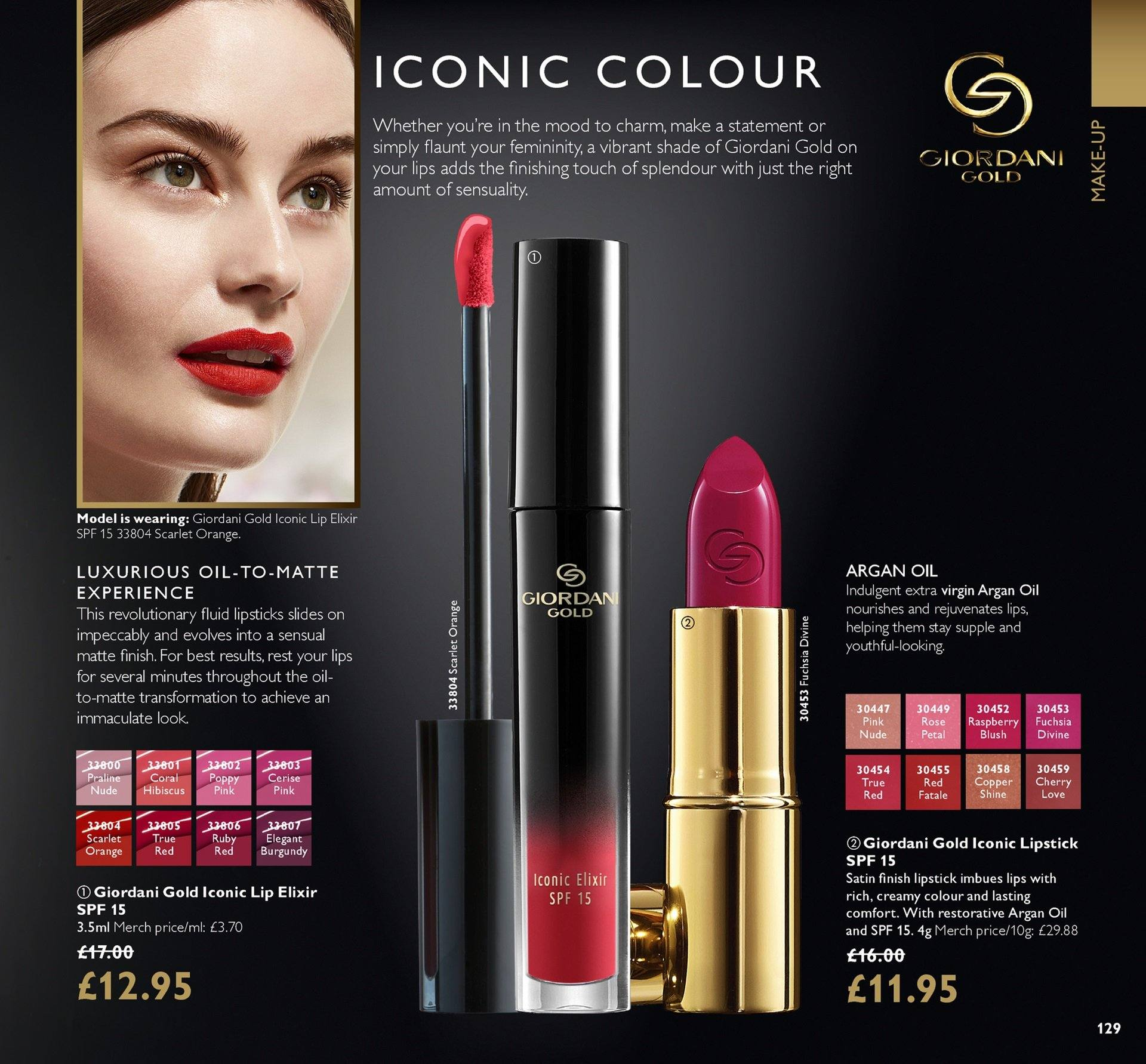 Oriflame offer  - 27.7.2018 - 16.8.2018. Page 129.