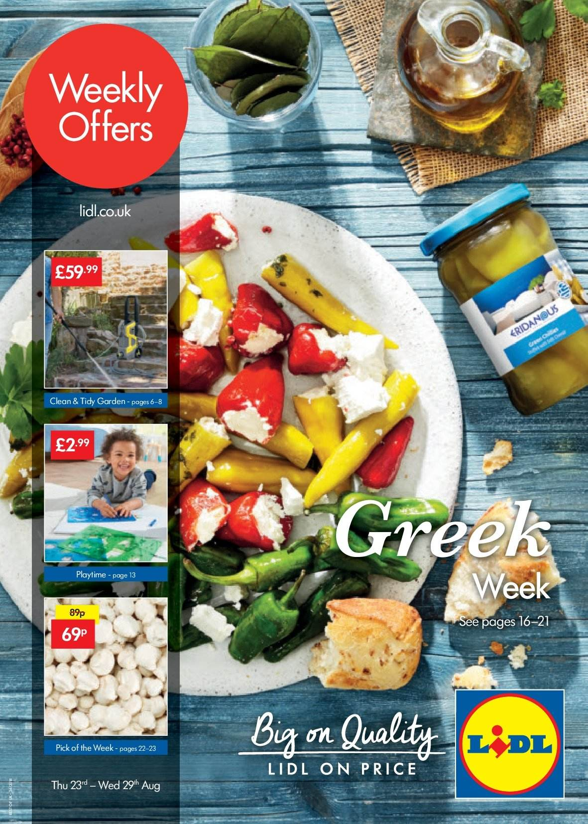 Lidl offer  - 23.8.2018 - 29.8.2018. Page 1.