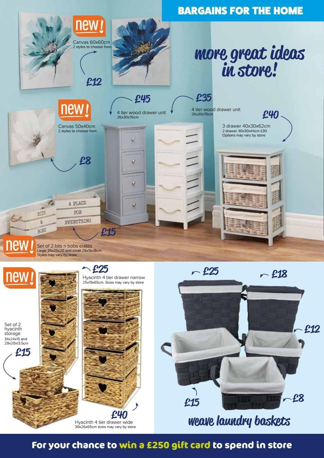 The Original Factory Shop offer  - 30.8.2018 - 12.9.2018 - Sales products - basket, crates, drawer, storage, hyacinth, gift card, card. Page 2.