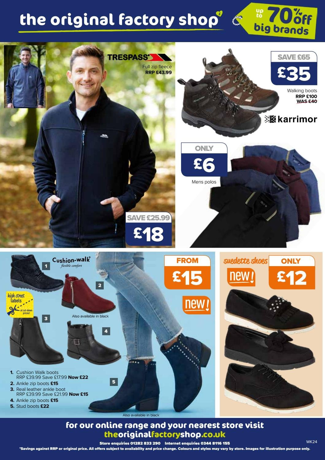 The Original Factory Shop offer  - 13.9.2018 - 26.9.2018 - Sales products - boots, cushion, shoes. Page 12.