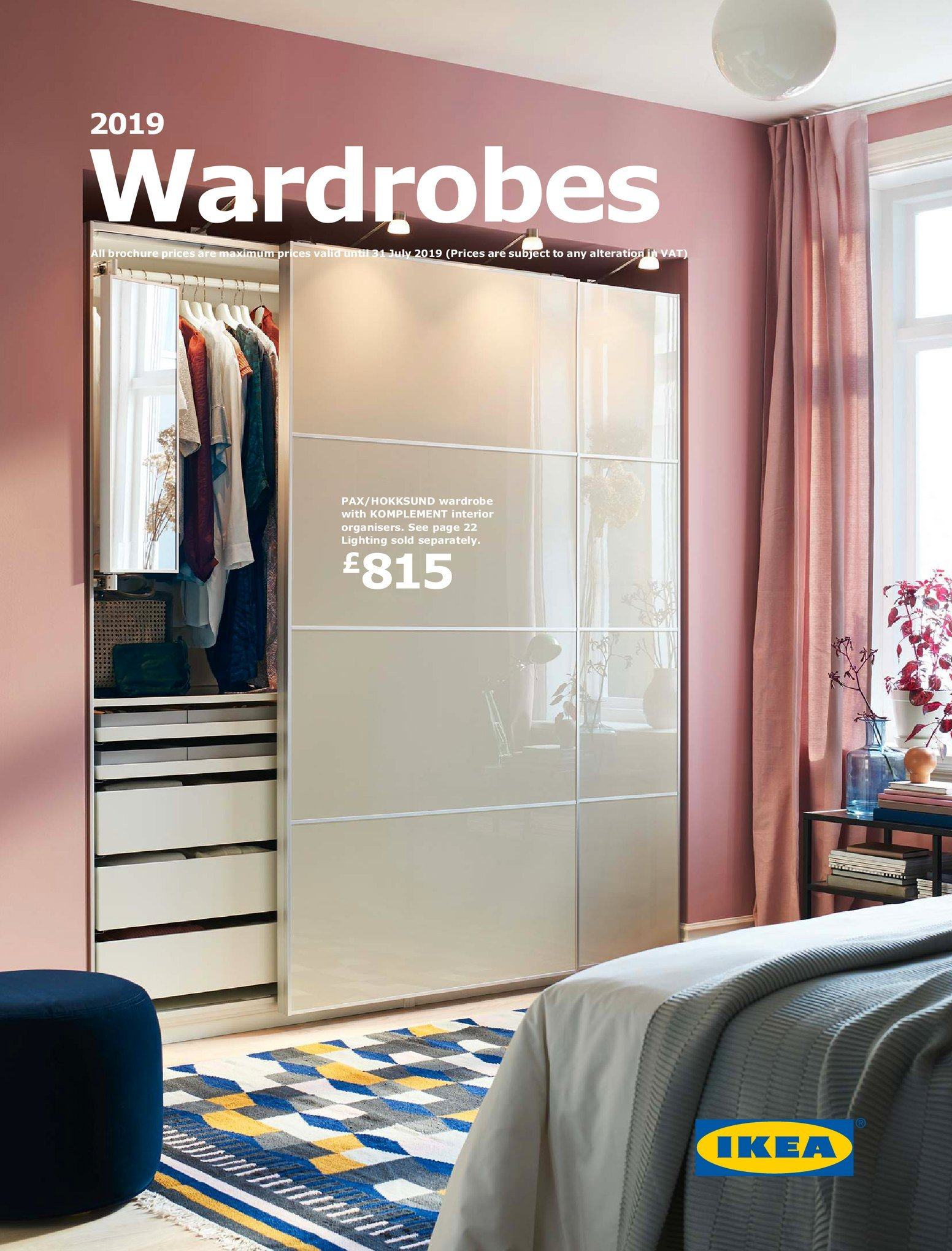 IKEA offer  - 14.10.2018 - 31.7.2019 - Sales products - wardrobe. Page 1.